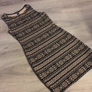 Forever 21 bodycon dress size small Aztec pattern